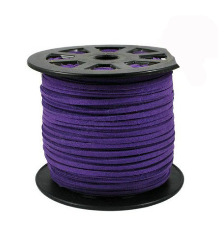 100yards Roll Dk Purple Faux Suede Velvet Leather Cord 3mm X 2mm DIY Jewelry Bracelet Necklace Rope String Accessories in Jewelry Findings Components from Jewelry Accessories