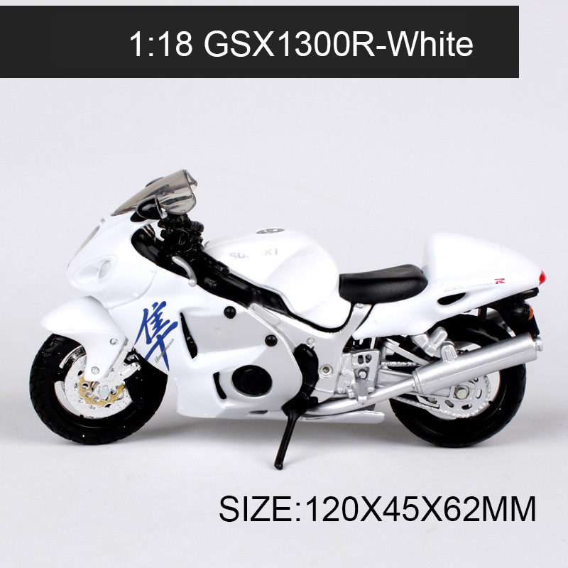 Maisto 1:18 Motorcycle Models GSX1300R GSXR750 GSXR600 SV650S RM250 Race Model Base Diecast Children Toy For Gift Collection