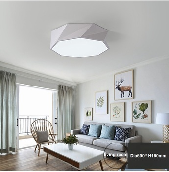 Special shaped geometry LED ceiling light modern minimalist living room dining room Ceiling lamp commercial lighting