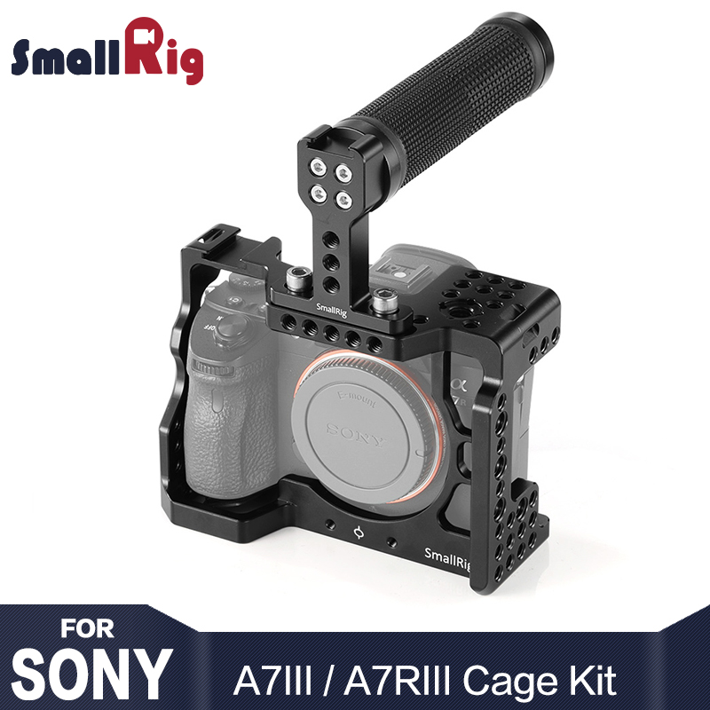 SmallRig A7M3 Camera Cage Kit for Sony A7RIII / A7III With Camera Handle Grip For Handheld Video Shooting-in Tripod Monopods from Consumer Electronics    1