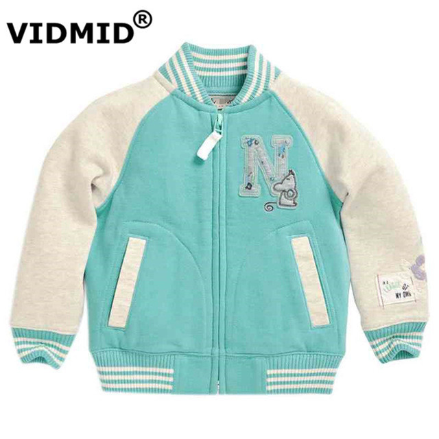 VIDMID Children Clothing Baby Girls Cardigan sweater Coat Kids Jacket Baseball clothes Outwear Winter Autumn Girls Coat