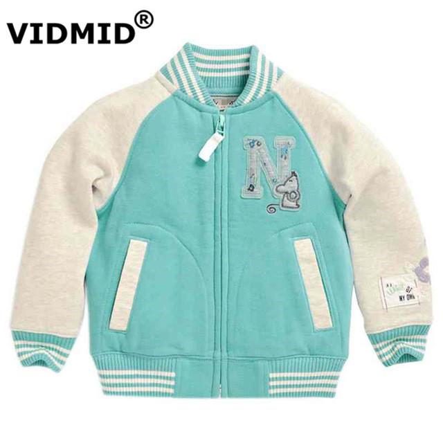 Vidmid crianças roupas de bebê meninas cardigan casaco camisola crianças roupas meninas outono casaco de inverno outwear jaqueta de beisebol