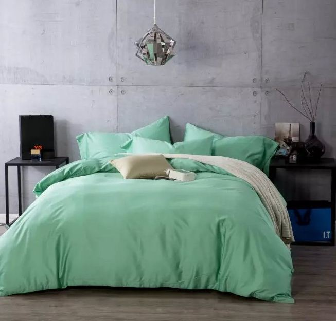 Bedroom Sets Full Size Mint Black And White Bedroom Ideas Lighting For Small Bedroom Bedroom With Black Accent Wall: Luxury Mint Green Egyptian Cotton Bedding Sets Sheets
