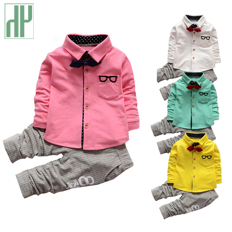 HH Kids clothes boys t-shirt+pants suit 2Pcs children formal suit boutique outfits gentleman toddler boy clothes birthday dress 2017 baby boys clothing set gentleman boy clothes toddler summer casual children infant t shirt pants 2pcs boy suit kids clothes