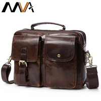 MVA Messenger Bag Men S Genuine Leather Shoulder Bags Male Top Handle Man Hasp Casual Leather