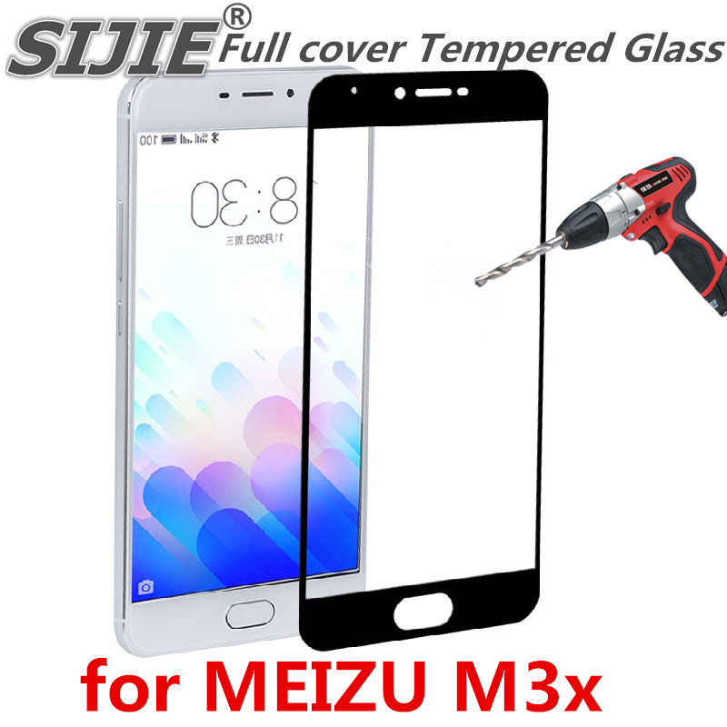 Full cover Tempered Glass for MEIZU M3X MEIZUM3X M3 X phone Screen Protective toughened on frame edges covers case