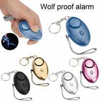 Alarma Personal con luz LED 120DB antipérdida Lobo autodefensa ataque de seguridad alarmas de emergencia para mujeres y niños mayores IJS998