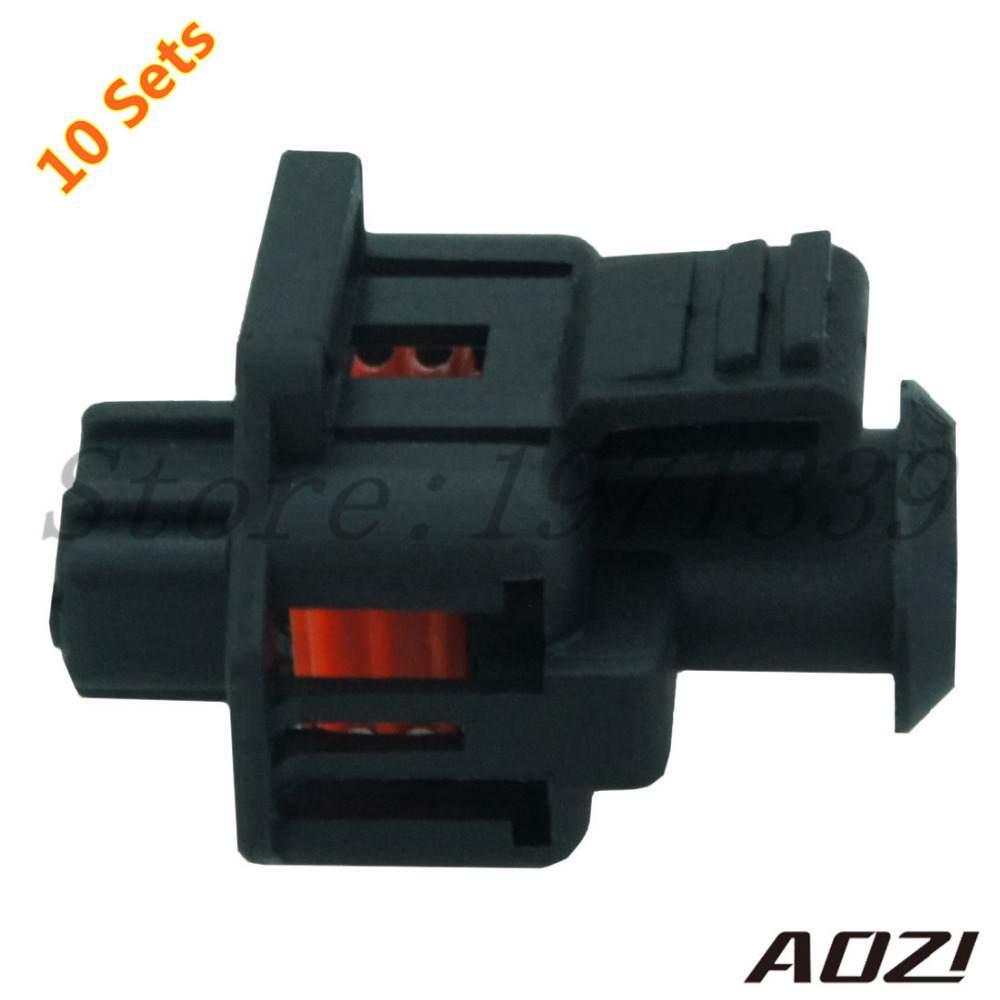 Ten Sets Automotive Wiring Harness Plastic Connector For Car Part 35mm Series 2 Pins Terminals 1 928 403 874 1928403874 In Connectors From Lights