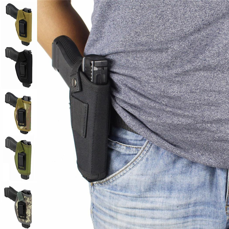 Tactical Compact Pistol Holster Waist Case Glock Gun Hunting Accessory Outdoor CS Field Invisible Holster