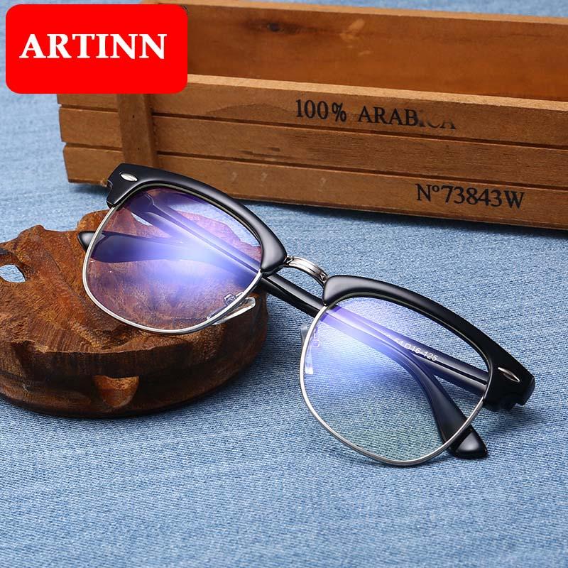 Computer Glasses Anti Blue Ray Glasses Anti Blue Light Eyeglasses Optical Eye Spectacle UV Blocking Gaming Filter Eyewear Rivet ray ban sunglasses clip