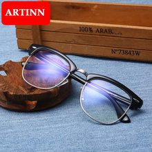 Computer Glasses Anti Blue Ray Glasses Anti Blue Light Eyeglasses Optical Eye Spectacle UV Blocking Gaming Filter Eyewear Rivet(China)