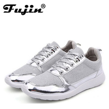 Size 36-41 brand New Chaussure Femme rubber 2016 Women casual shoes Gold Silver mesh woman breathable fashion sport summer shoes