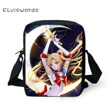 ELVISWORDS Sailor Moon Printing Cute Messenger Bag Crossbody Mini Pretty Trendy Shoulder for Boys and Girls 2019 Fashion