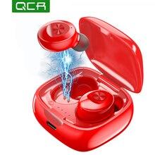 QCR Stereo Wireless Earbuds TWS Bluetooth 5.0 Earphone HIFI Sound Sport Earphones Handsfree Gaming Headset 5D Stereo Headfree xg12 tws 5 0 bluetooth earphone 3d stereo wireless earbuds hifi sound sport earphones handsfree gaming headset with charging box