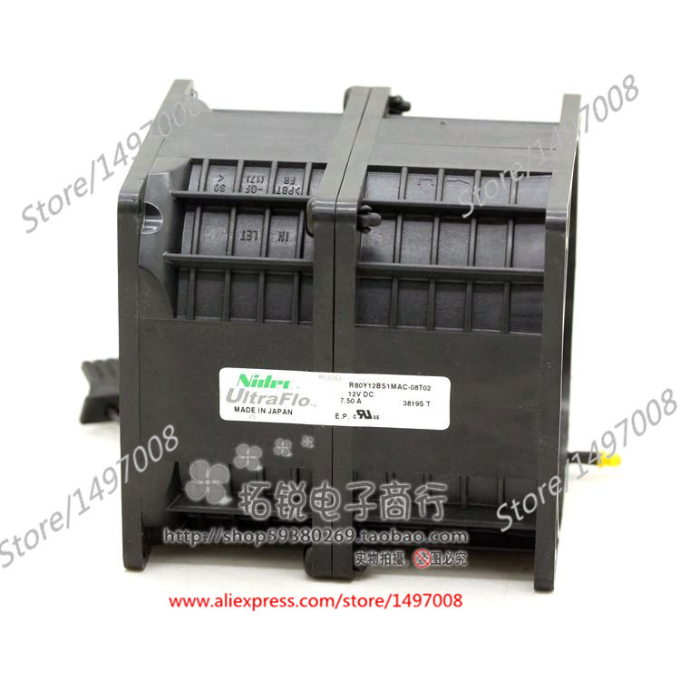 Free Shipping For Nidec  R80Y12BS1MAC-08T02  DC 12V 7.50A 8-wire 8-pin connector 40mm, 80x80x90mm Server Square fan free shipping 10pcs cs4221 bs