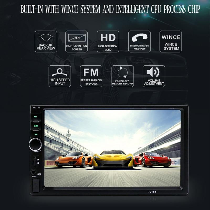 7 pouces HD Radio voiture MP4 MP5 lecteur vidéo voiture accessoires Bluetooth mains libres Automobile vidéo inversion priorité carte Radio