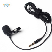hot deal buy estgosz mini 3.5mm jack microphone lavalier tie clip microphones microfono mic for speaking speech lectures 1.5m long cable