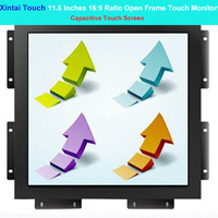 Xintai Touch 11.6 Inches 16:9 Ratio Capacitive Touch Screen Industrial Open Frame Touch Monitor Resolution (1366*768)
