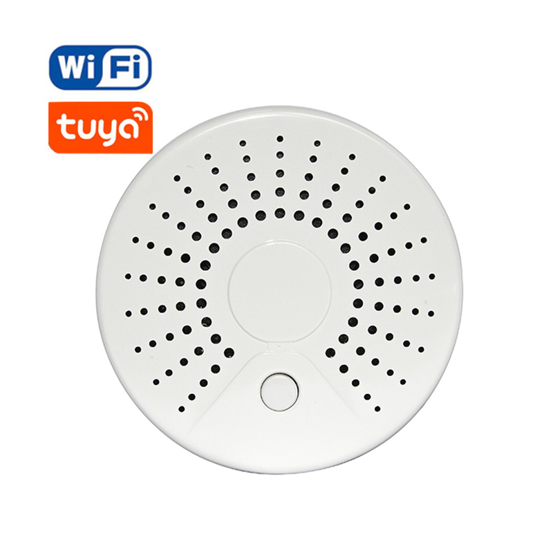 Smart Wireless Wifi Smoke Detector Alarm Sensor Battery Powered APP Remote Control Notification Alerts