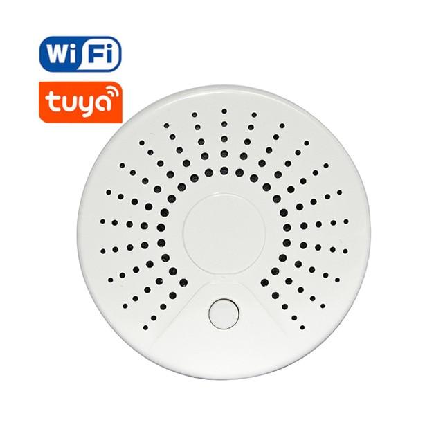 Intelligent Sans Fil Wifi Détecteur de Fumée Capteur D'alarme Batterie Alimenté APP Télécommande Alertes de Notification