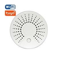 Smart Wireless Wifi Smoke Detector Alarm Sensor Battery Powered APP Remote Control Notification Alerts