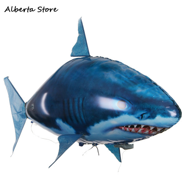 Remote Control Flying Fish Inflatable Shark Clownfish Flying Fish Toys For Childern Birthday Present Gift Funny Prank Plastic