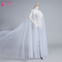 Long Wedding Cape White/Ivory/Red/Black/pink Lace Wedding Bolero Bride Cloak In Stock Elegant Real Wedding Bridal Capes DQG593
