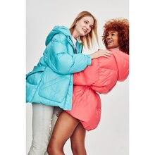 JAZZEVAR Winter New High Fashion Street Designer Brand 90% Duck Down Jacket Outerwear Coat With Belt