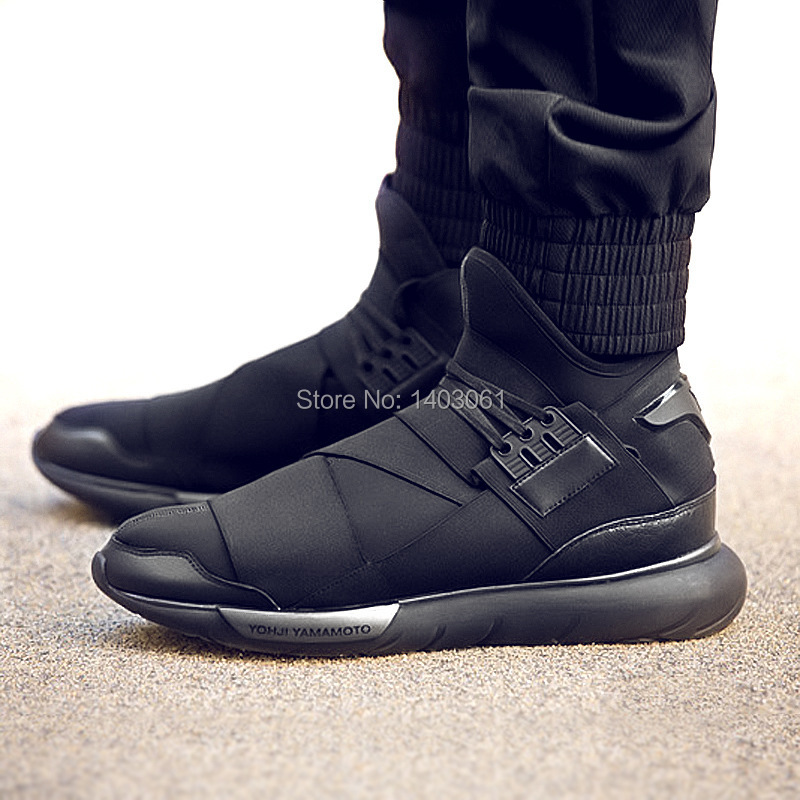 EU 35 44 Men s and Women shoes 2015 sale Y3 sneaker QASA RACER WT Hi end Hi  street Kanye West sneakers ASAP Rocky  0dfb26798