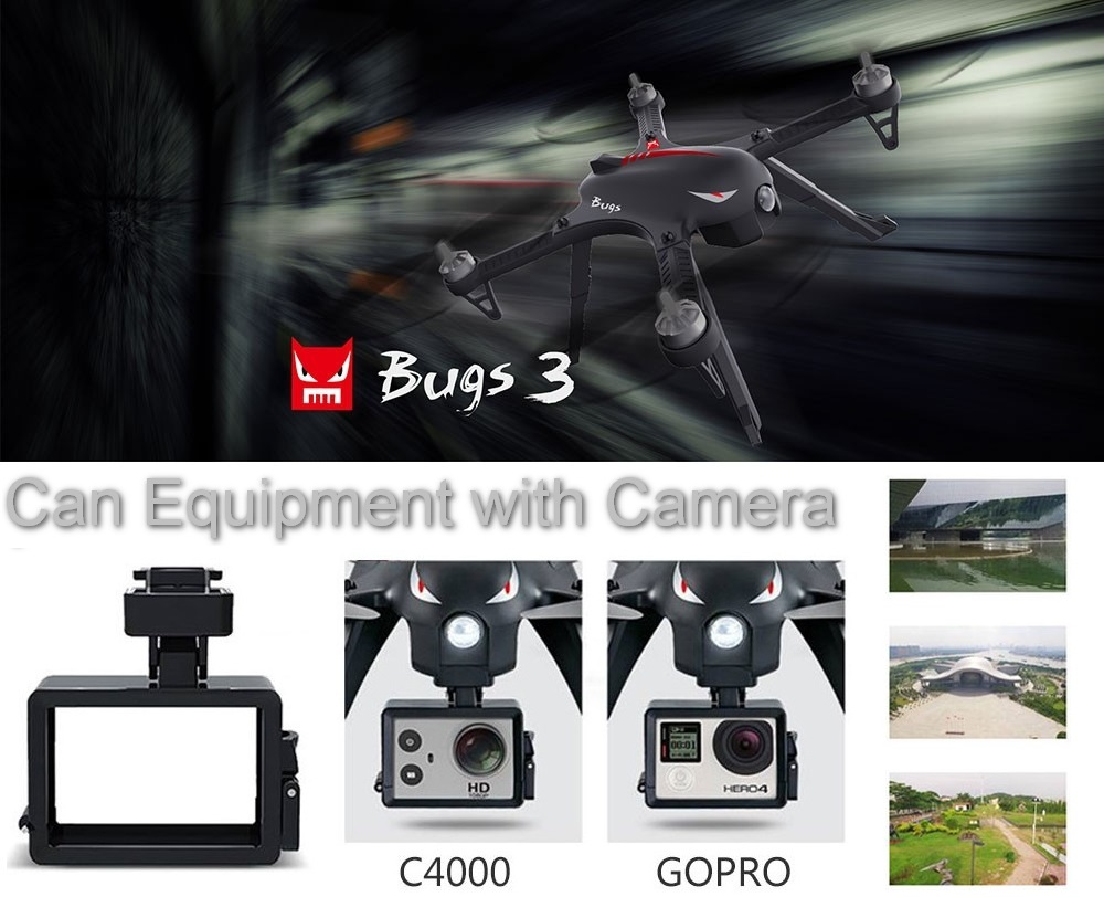 Racing drone MJX Bugs B3 RC Dron FPV with D1806-2280KV Brushless Motor 2.4G Quadcopter 6 Axis Gyro Alarm Moniter Helicopter Toys rctown mjx bugs 3 b3 rc quadcopter brushless motor 2 4g 6 axis gyro drone with h9r 4k camera professional dron helicopter d35