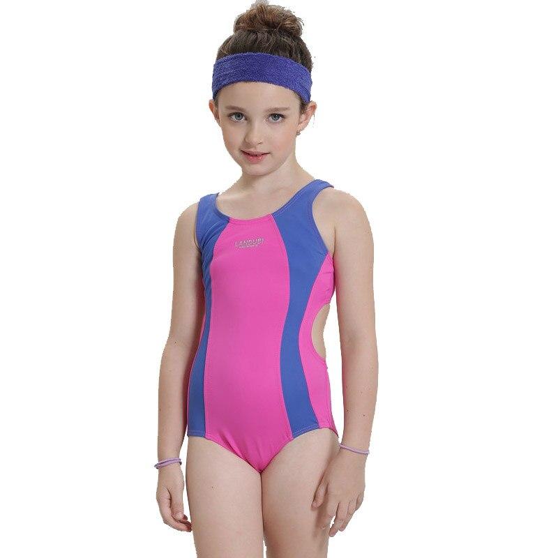 2017 Girls Sports Swimsuit Children Swimwear Swimming Clothes One-Piece Swimwear for Kids Swimming Suit Quality Girls Swimwear