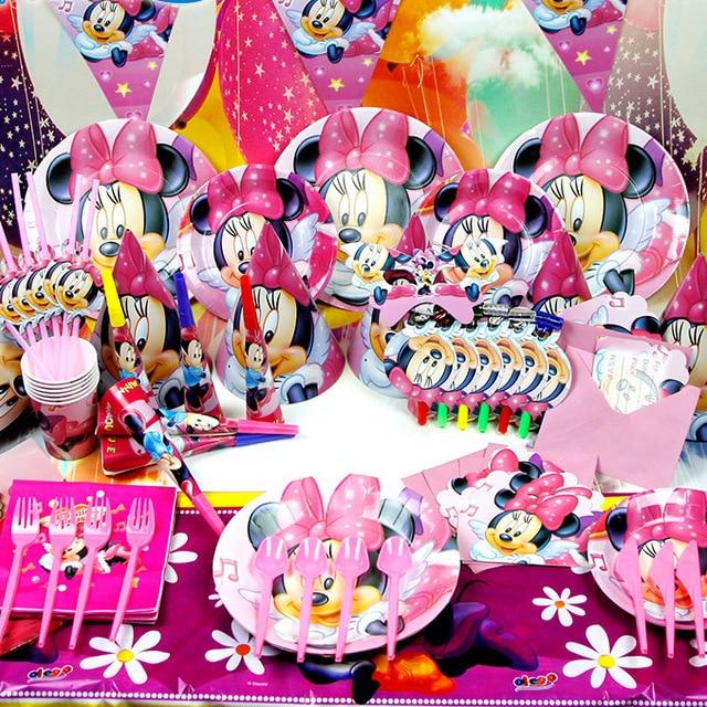 Preferenza 1 Set Minnie Mickey Compleanno Decorazione Festa Di Compleanno  YE27