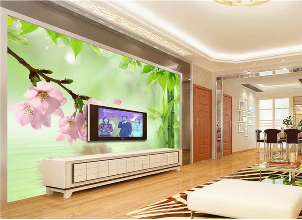 Wallpapers Home Improvement Learned Custom 3d Photo Wallpaper Living Room Mural Plum Blossom Jade Carving Picture Sofa Tv Background Non-woven Wallpaper For Wall 3d