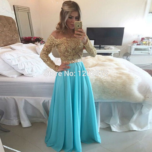 Long Sleeve Prom Dress Real Beaded Applique Ruched Top Sale Vestidos De  Gala Plus Size Trajes Party Evening Dresses Fashion 48356ccb4fe3