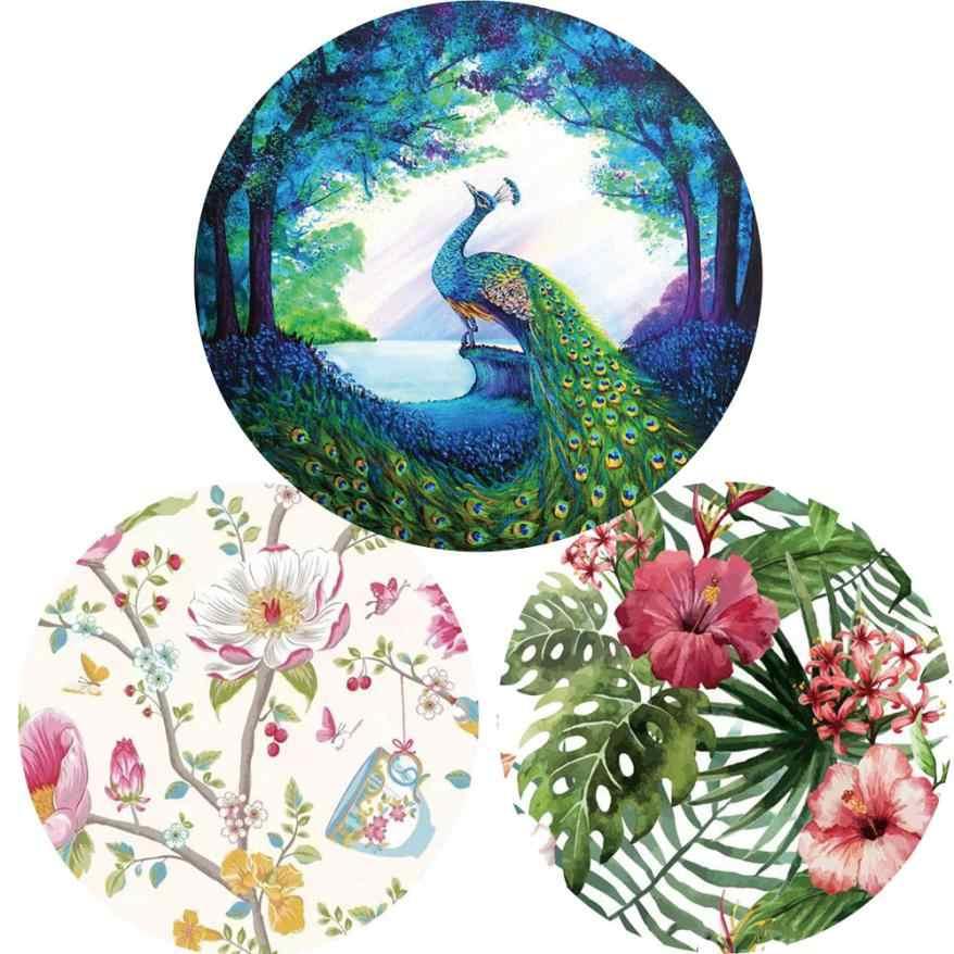 マットバスルームに花と鳥ラウンドタペストリービーチピクニックヨガマットタオル毛布ポリエステルドロップシッピング may8