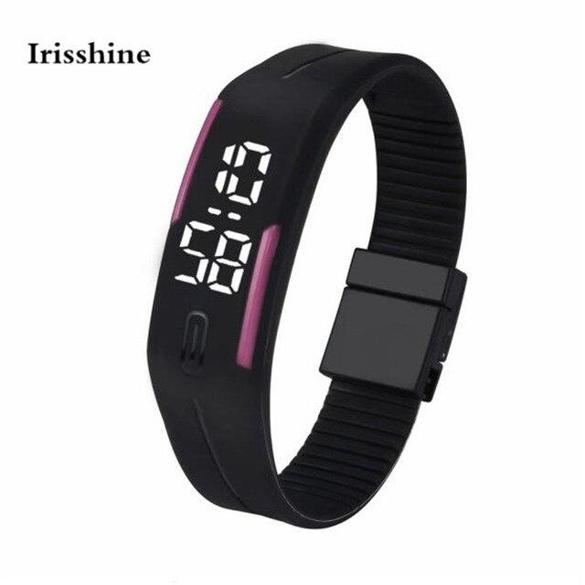 Irisshine #50 unisex couple Watches Mens Womens Rubber LED Watch Date Sports Bra