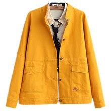 women new simple College Japanese style  hooded long loose coat female students spring autumn windbreaker girl jacket outwear