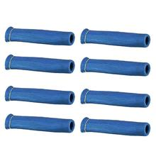 8pcs High Temperature Shield Spark Plug Wire Boots Protector Sleeve Cover (Blue) goofit blue high performan motorcycle spark plug a7tc h058 034