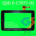 7 inch QSD E-C7077-01 емкостный сенсорный экран стекла digitizer панель для DIGMA планшетных пк