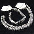 Frio de aço inoxidável 316L mulheres Mens Costume ouro prata colar pulseira Set jóias A598X835