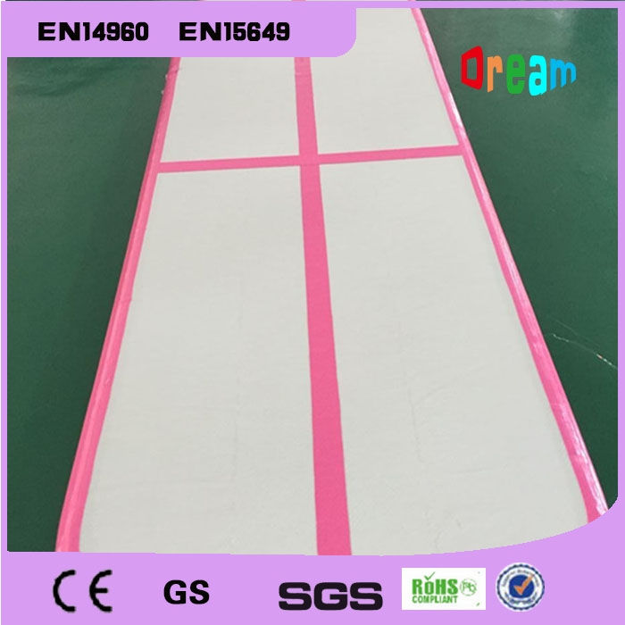 Free Shipping 20ft Long Pink Inflatable Air Track for Sale 6 meters Inflatable Air Tumble Track Inflatable Air Track Gymnastics free shipping 3x0 9x0 1m black gymnastics inflatable air track gym mat inflatable air tumble track inflatable air track