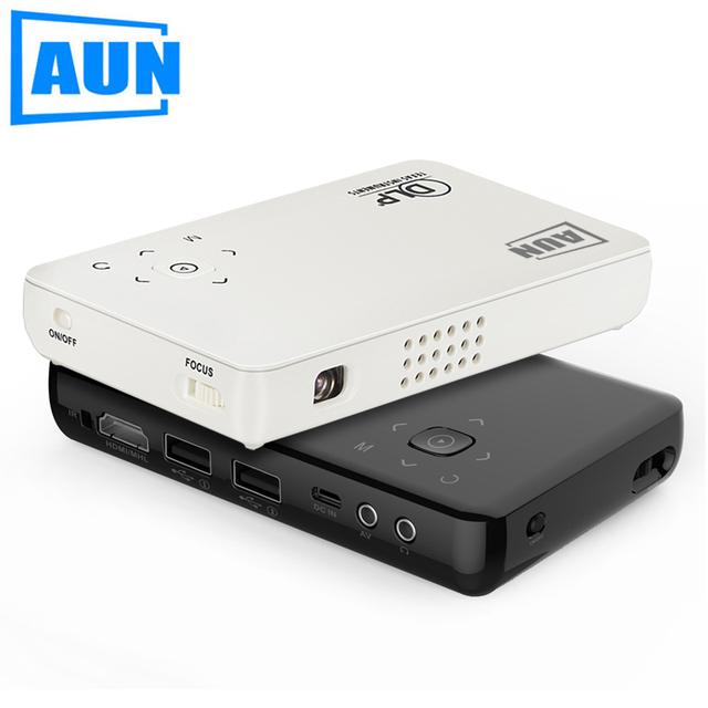 AUN Projetor AM1SP Definido em Bluetooth WI-FI Android Projetor DLP Portátil com 2500 mAH Bateria para Reunião de Negócios Palestras