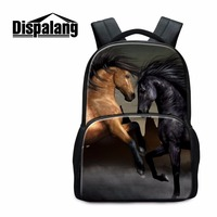 Dispalang Horse School Backpacks for Teen Girls Animal Large Bookbags for Boys College Students Casual Mochilas Child Back Pack