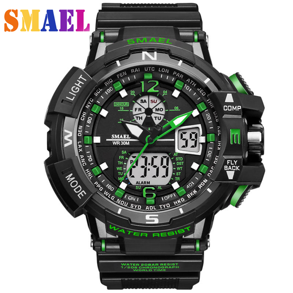 цена Big Dial G Style Digital Watch Military Army Men Watches Clock Electronic Wristwatch S Shock Water Resistant Date Calendar LED