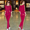 New 2 piece set women fashion Casual Slim S ports hooded pullover suit women clothing set coat jacket + pant