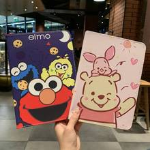 For ipad air 2 case cartoon Winnie Sesame Street Stand Protective TPU Cover for ipad air/ air 2/pro 9.7 /ipad 2017/ipad 9.7 2018 for ipad air 2 case kids cartoon 3d protective cover for ipad air funda for ipad 2017 2018 cover capa for ipad pro 9 7 case