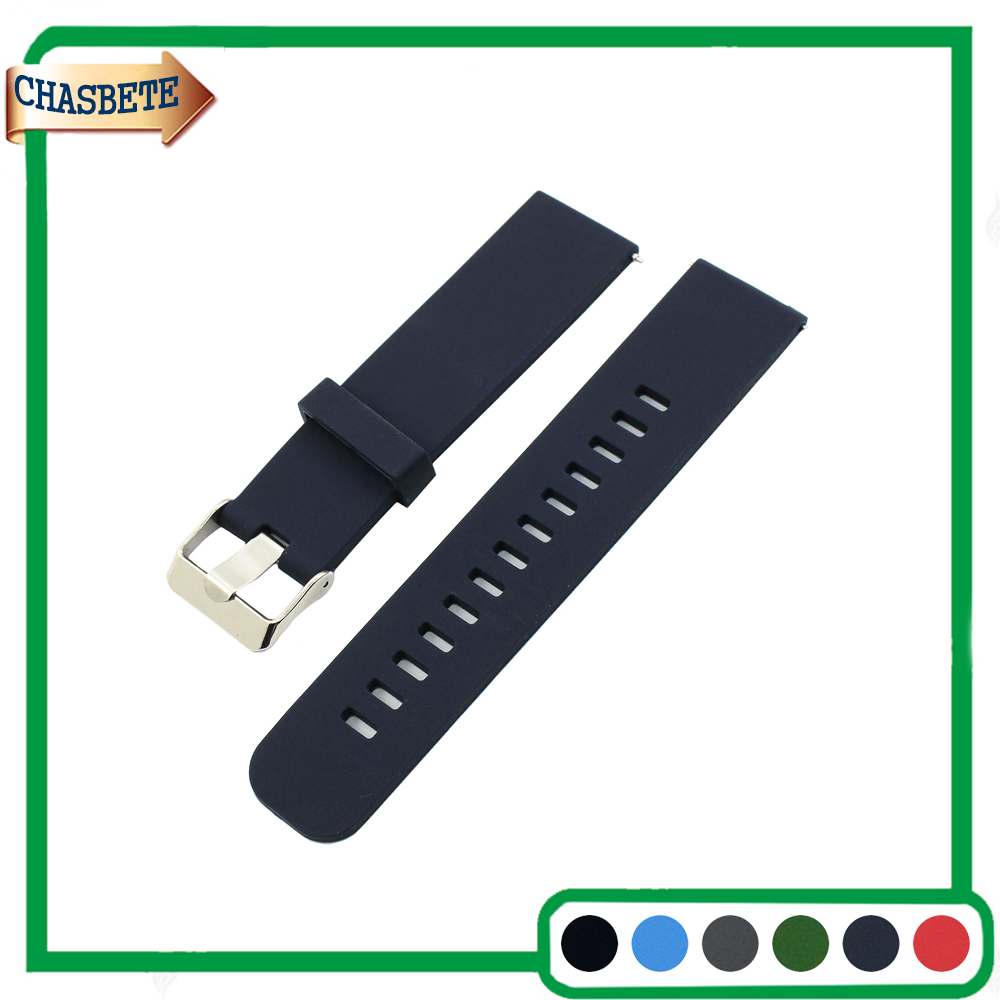 Silicone Rubber Watch Band for Fossil Watchband 18mm 20mm 22mm Quick Release Resin Strap Belt Wrist Loop Bracelet Black Blue купить