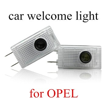 best selling 2 pieces 12V 3W car door light ghost shadow welcome light logo projector emblem For opel insignia