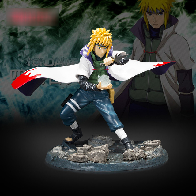 21cm Anime with falsh LED light Naruto Shippuden figure yondaime hokage Namikaze Minato PVC action figure model toy figurine  2