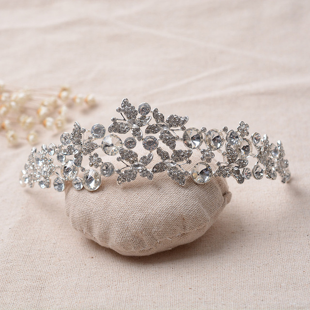 European Designs royal king queen crown rhinestone tiara head